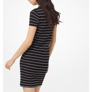 Michael Kors Dresses - Ruffled Stripe Stretch-Viscose Dress